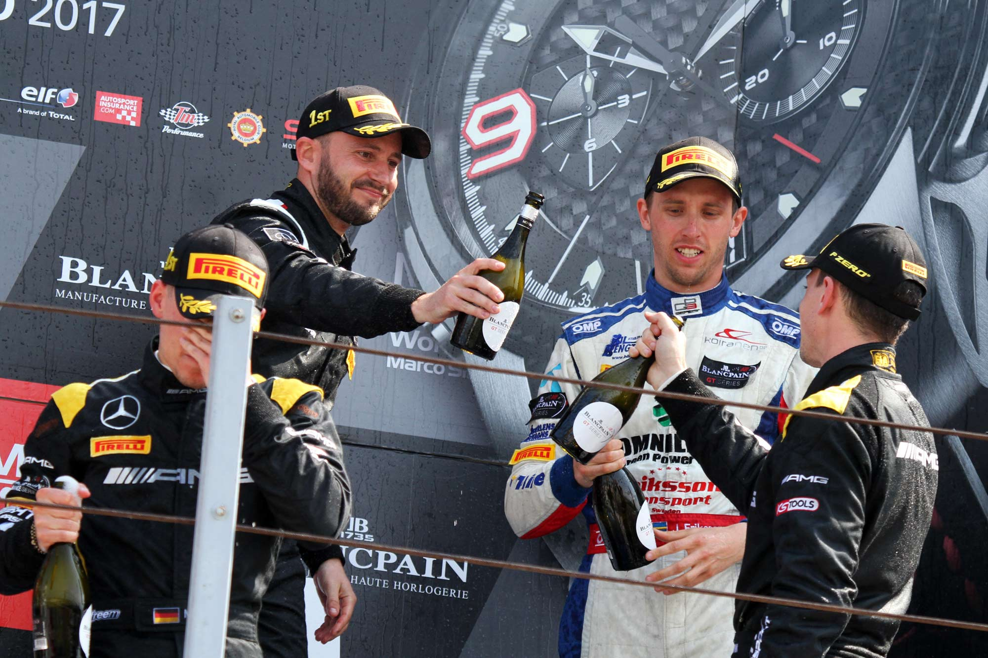 Eriksson fights back to claim Misano podium on promising GT debut